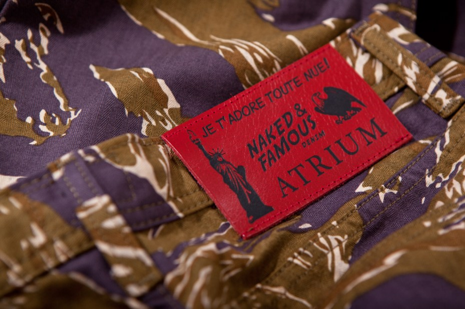 """Image of Atrium x Naked & Famous """"Je T'Adore Tout Nue"""" Tiger-Camo Jeans"""