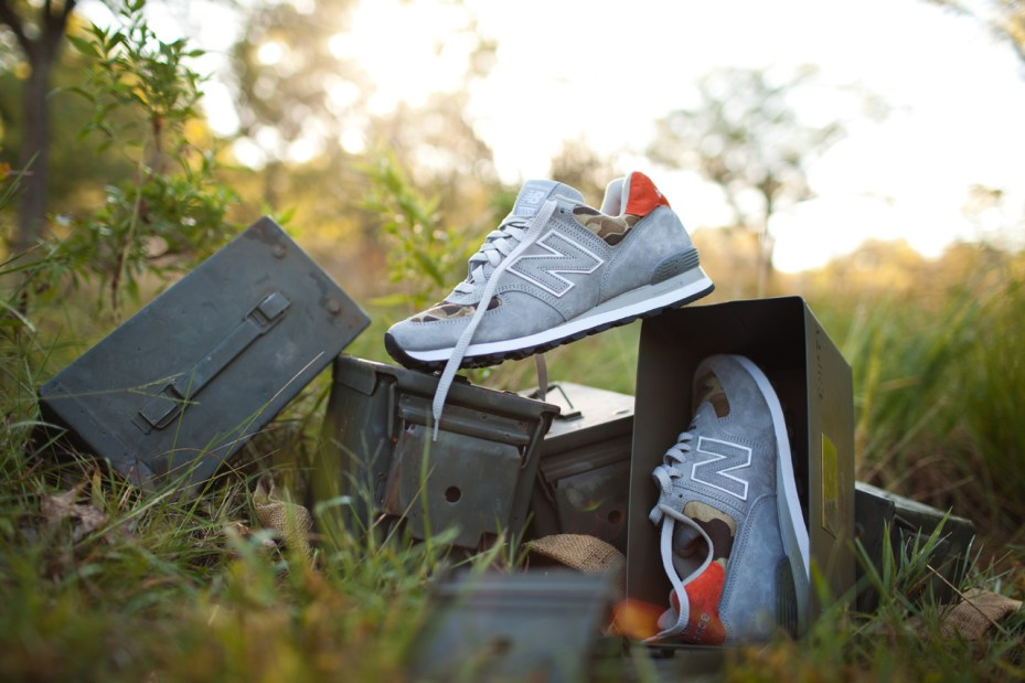 "Image of Ball and Buck Injects Its American-Made Ethos Into the New Balance ""Camo"" US574"