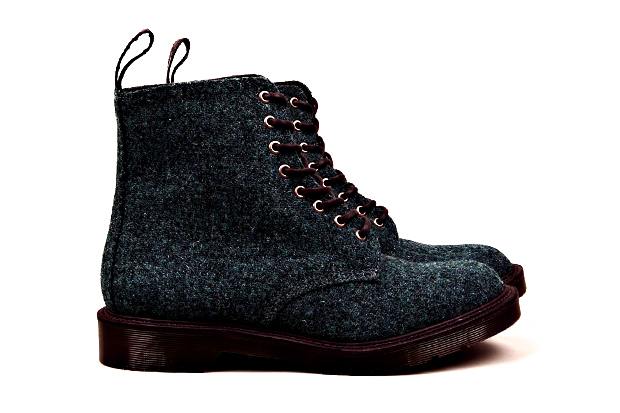 Image of Harris Tweed x Dr. Martens M.I.E. Beckett 8-Eye Boot