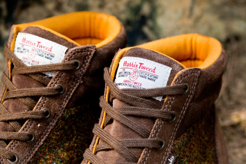 Image of Harris Tweed x Clarks Fall/Winter 2012 Torbay Point Khaki Suede Sports Boots