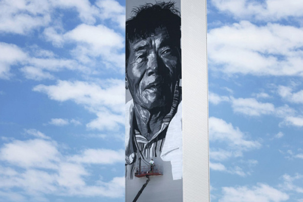 Image of Hendrik Beikirch Creates Asia's Tallest Mural in South Korea