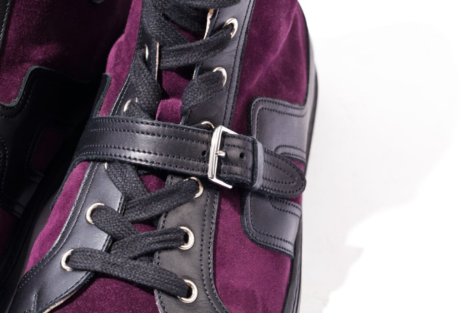 Image of Hermes 2012 Fall Quantum High-Top Sneakers Prune/Noir