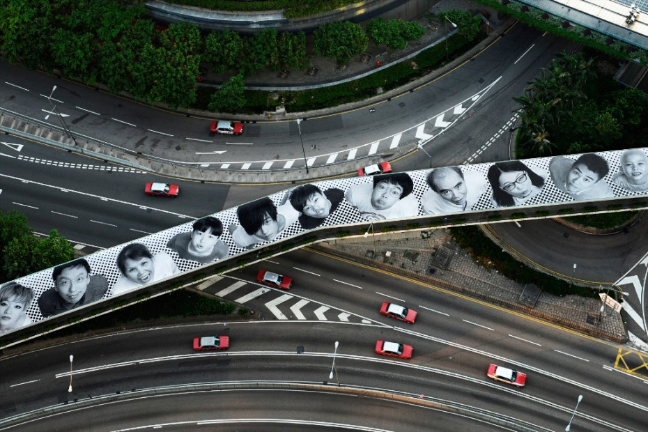 Image of JR Launches His &quot;INSIDE OUT&quot; Project in Hong Kong