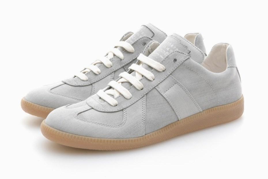 Image of Maison Martin Margiela Bleached Denim Sneaker