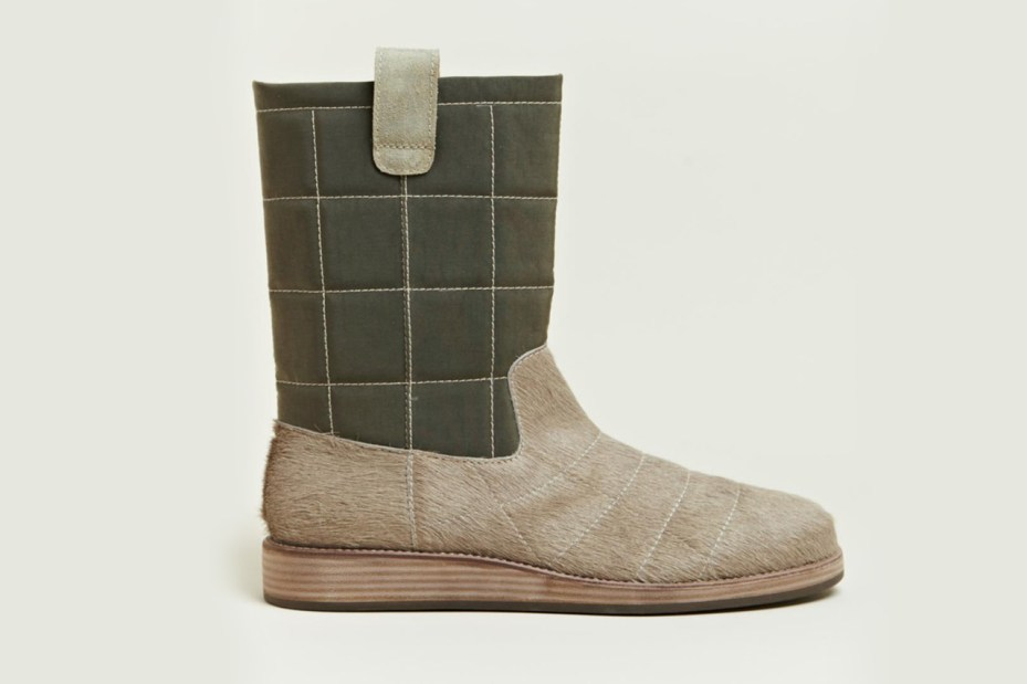 Image of Maison Martin Margiela Quilted Fur Trunk Boot