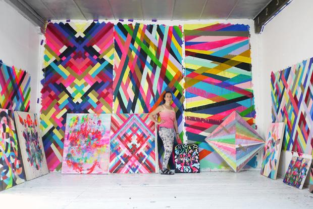 "Image of Maya Hayuk ""Multi Versus"" @ Cooper Cole Gallery"