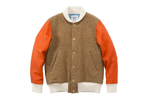 Image of MR. GENTLEMAN English Wool Stadium Jacket