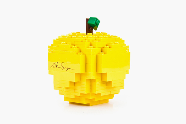 Image of Nathan Sawaya for COMME des GARCONS Yellow LEGO Apple