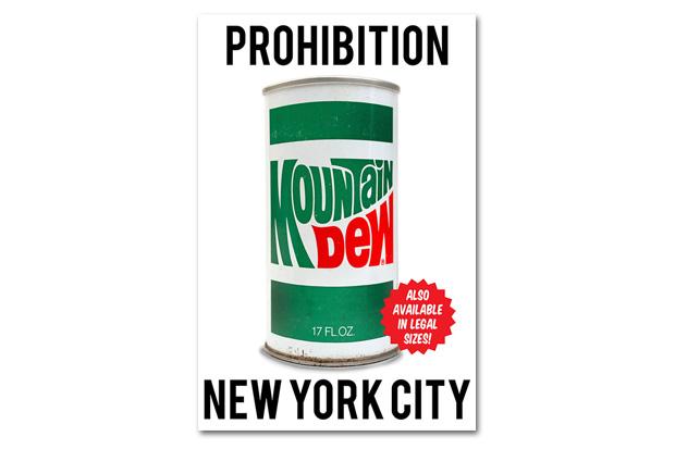 Image of New York City Looks to Ban Soda Over 16 oz.: Mountain Dew's Art Response