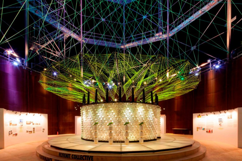 Image of Nike Reveals Flyknit Collective Feather Pavilion @ Beijing D