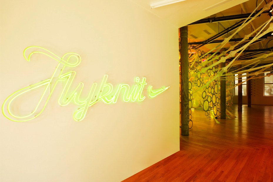 Image of Nike Reveals NYC Flyknit Collective myThread Pavilion by Jenny Sabin