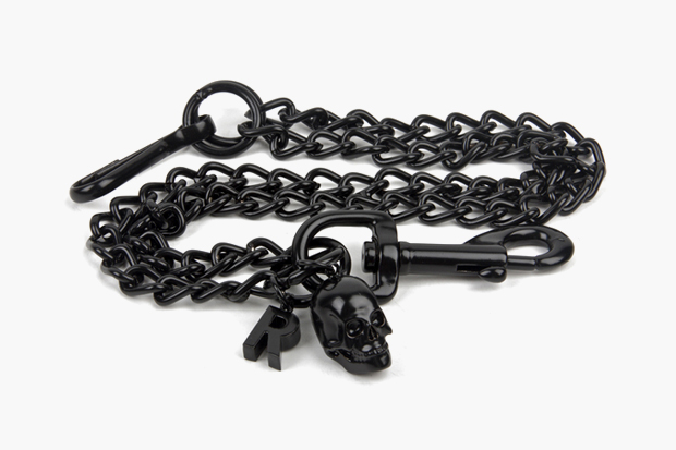 Image of Raf Simons Black Skull Keychain