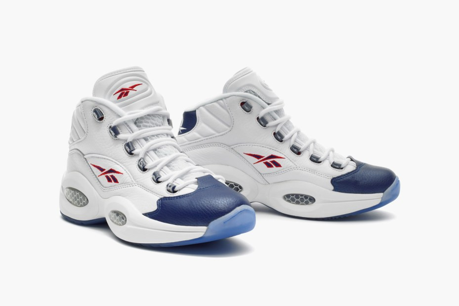 Image of Reebok Question Mid White/Blue