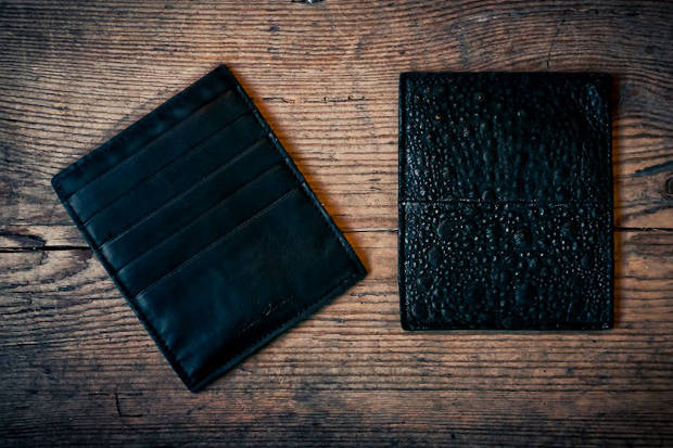 Image of Rick Owens Toad Skin Card Wallet
