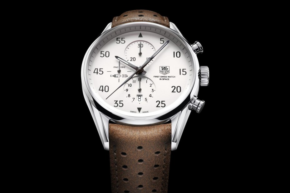 "Image of TAG Heuer Carrera 1887 ""SpaceX"" Watch"