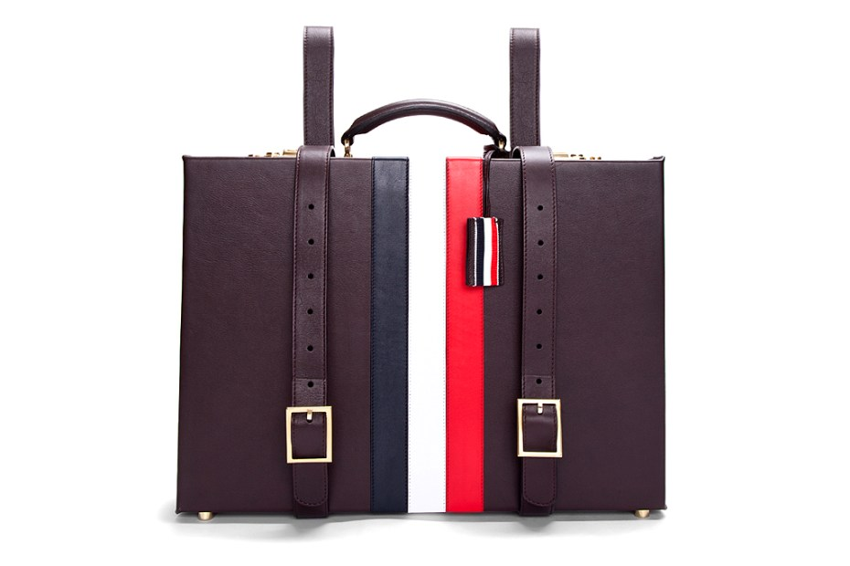 Image of Thom Browne Espresso Smooth Grain Briefcase Backpack