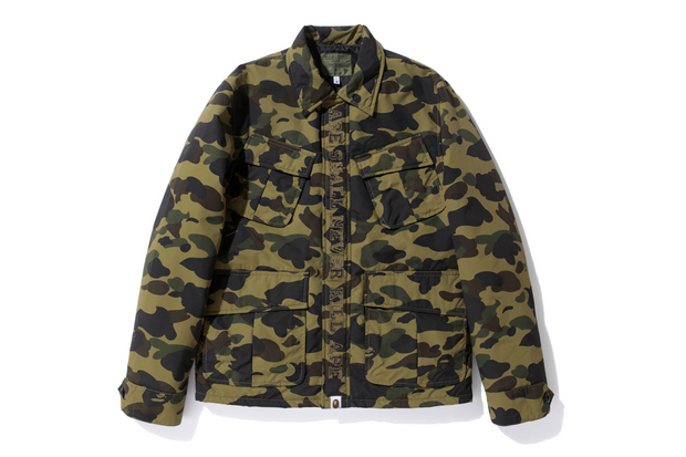 Image of A Bathing Ape 2012 Winter 1ST CAMO ARMY JUNGLE FATIGUE SHIRT