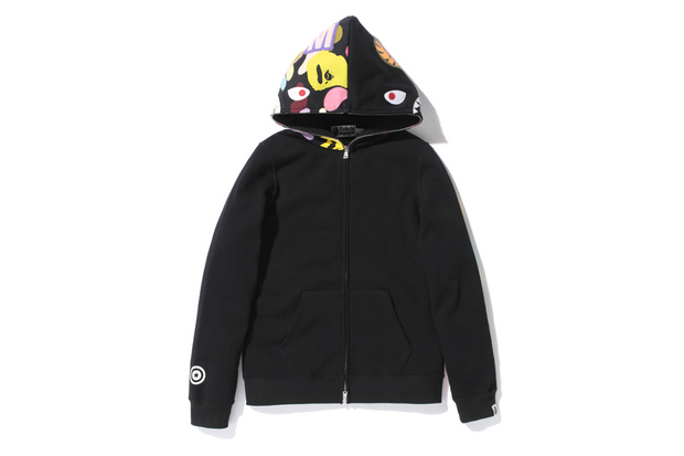Image of A Bathing Ape SHARK ZOOM ABC MULTI FULL ZIP HOODIE