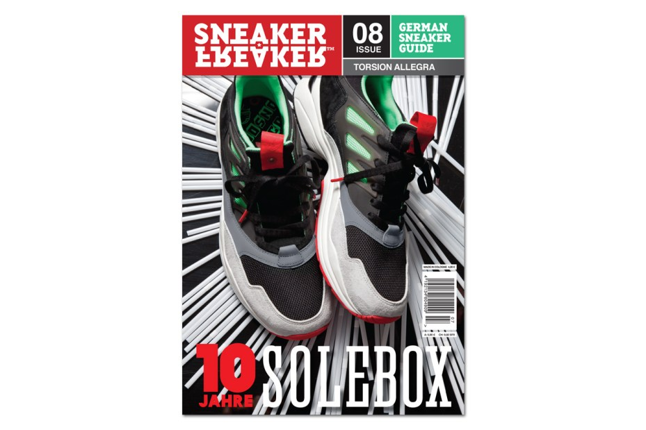 Image of adidas Torsion Allegra Preview on Cover of Sneaker Freaker Germany Issue 08