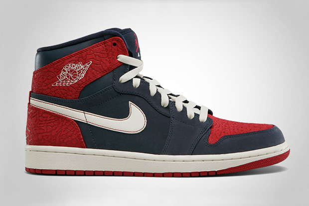 Image of Air Jordan 1 High - Obsidian/Gym Red
