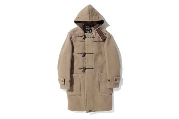 Image of A Bathing Ape x Gloverall Monty Duffle Coat