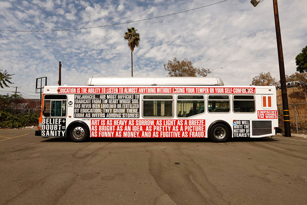 "Image of Barbara Kruger's Iconic Styles Covers Los Angeles Buses for ""Arts Matter"""