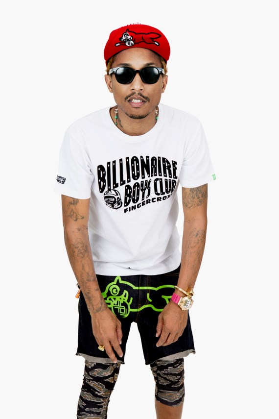 Image of Billionaire Boys Club x Fingercroxx 2012 Fall/Winter 10th Anniversary Lookbook featuring Pharrell Williams