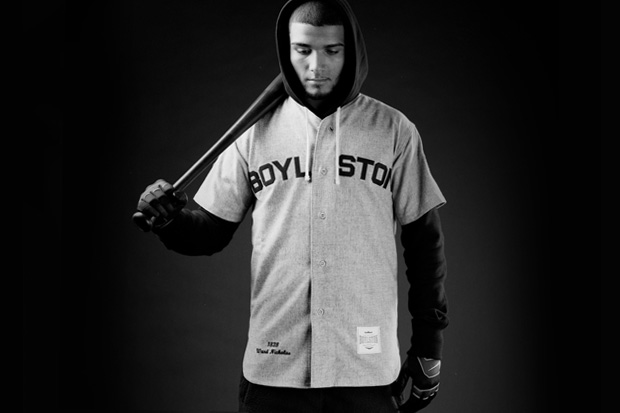 "Image of Boylston Trading Company x Mitchell & Ness ""Coin & Leaf League"" Vintage Baseball Jersey"