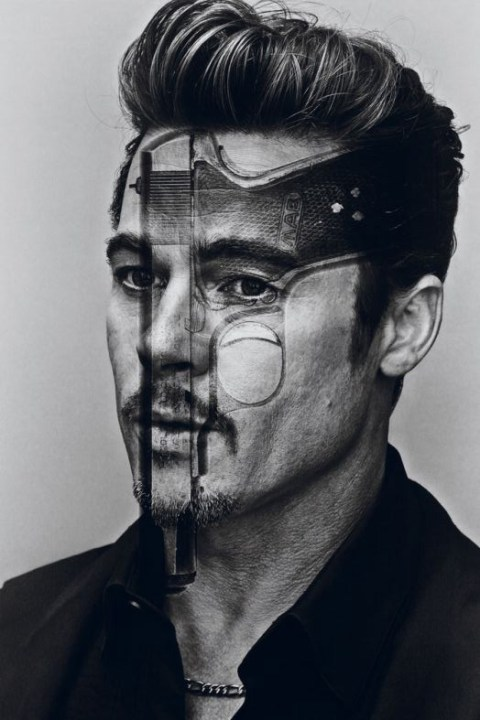 Image of Brad Pitt Shows Multiple Personalities for Interview Magazine's October/November 2012 Issue