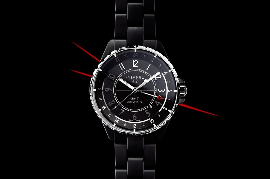 Image of Chanel 2012 J12 GMT Matte Black Watch