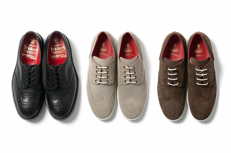 Image of COMME des GARCONS JUNYA WATANABE MAN x Tricker's 2012 Suede Wingtip Sneakers