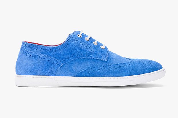 Image of COMME des GARCONS JUNYA WATANABE MAN x Tricker's Blue Suede Brogue