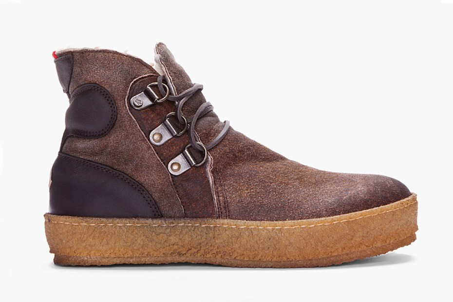Image of Moncler Espresso Raw Sheepskin Nevada Shoe