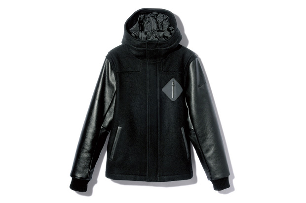 Image of F.C.R.B. HOODED VARSITY JACKET