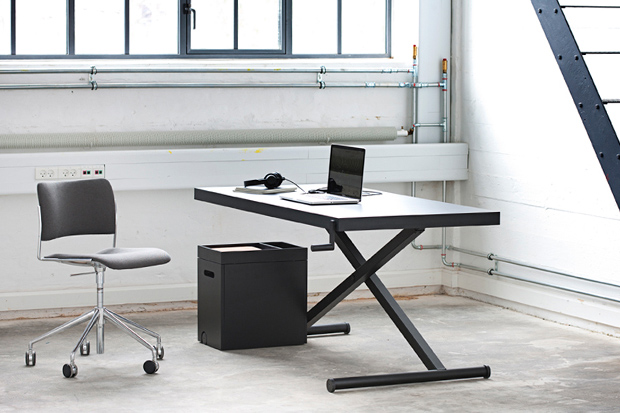 Image of For the Growing Standing Desk Trend, Homlris's Height-Adjustable XTable