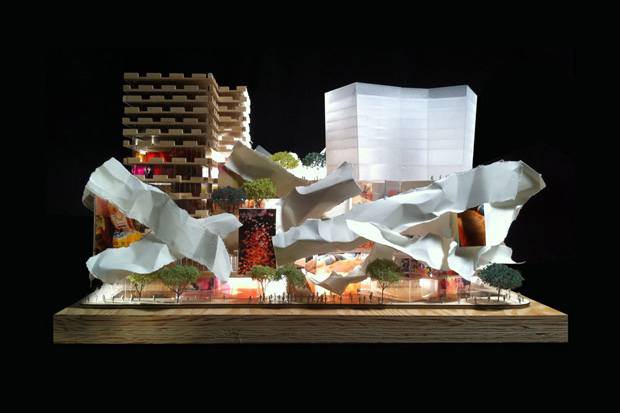 Image of Frank Gehry &amp; David Mirvish Unveil Plans for Entertainment District in Toronto