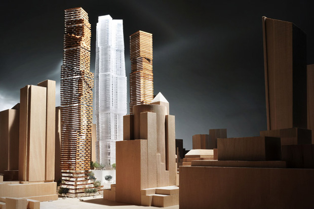 Image of Frank Gehry & David Mirvish Unveil Plans for Entertainment District in Toronto
