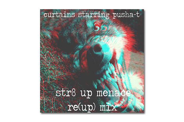 Image of HYPETRAK Premieres CurT@!N$ starring Pusha T - Str8 Up Menace Re-(Up) Remix