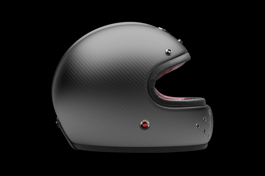 """Image of Les Ateliers Ruby Castel Carbon Gunmetal """"St Roc"""" Helmet"""