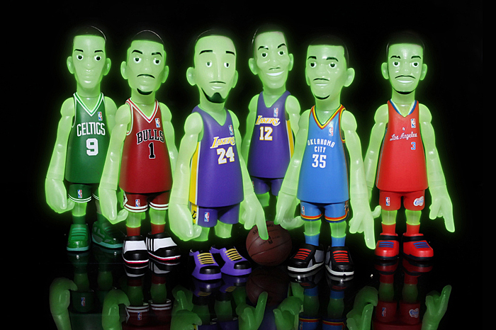 Image of MINDstyle for BAIT NBA Glow-in-the-Dark Collectible Figure Set