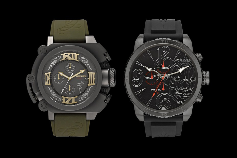 "Image of Diesel Launches First-Ever Watch Collaboration and ""Time 2 Ride"" Video Series with Mister Cartoon"