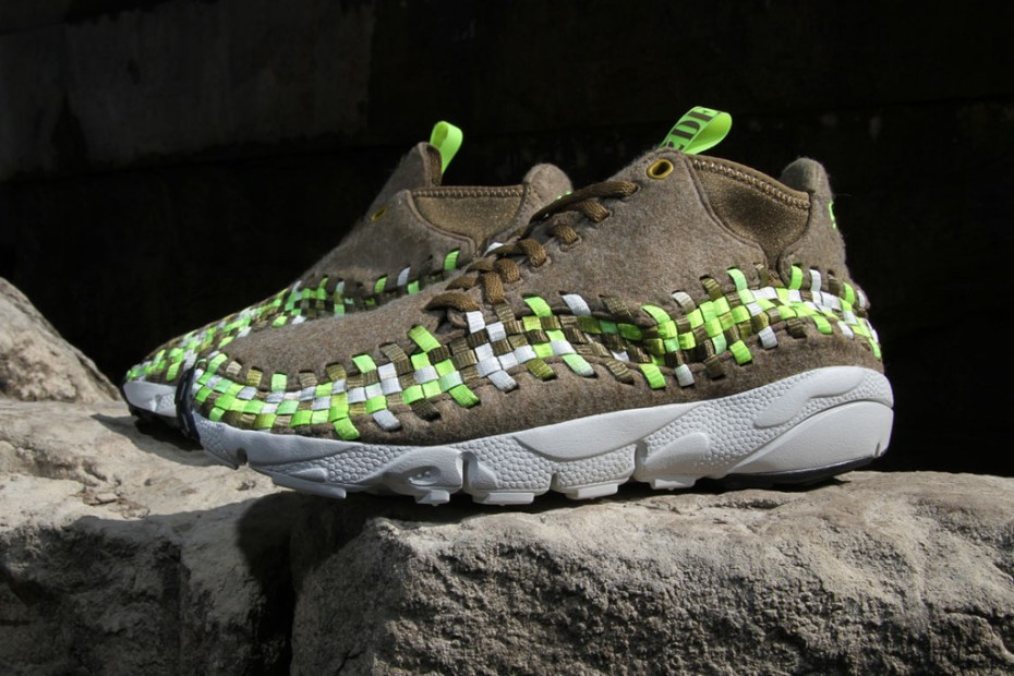 "Image of Nike Air Footscape Woven Chukka ""Volt Wool"""
