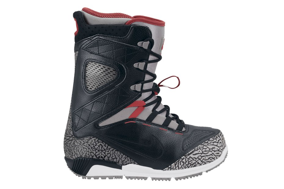 "Image of Nike Snowboarding Zoom Kaiju ""Black/Cement"" Boot"