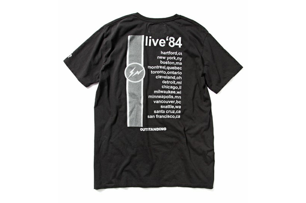 Image of OUTSTANDING presents TOUR Tee SHIRT by fragment design x PEEL & LIFT