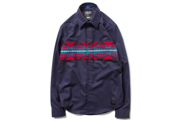 Image of Pendleton x Stussy Wool Comp Band Shirt