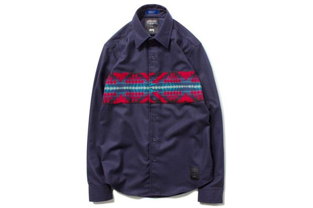 Image of Pendleton x Stussy Wool Comp Band Shirt