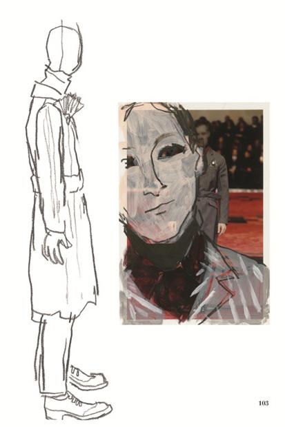 Image of Prada Fall/Winter 2012 Presented Through Illustrator Richard Haines: Il Palazzo