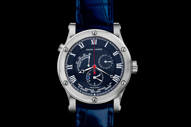 Image of Ralph Lauren Steel Sporting World Time Watch
