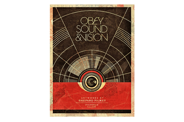"Image of Shepard Fairey ""Sound & Vision"" Exhibition @ StolenSpace Gallery"