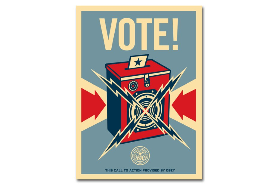 Image of Shepard Fairey Wants You to Remind Friends & Family to Vote